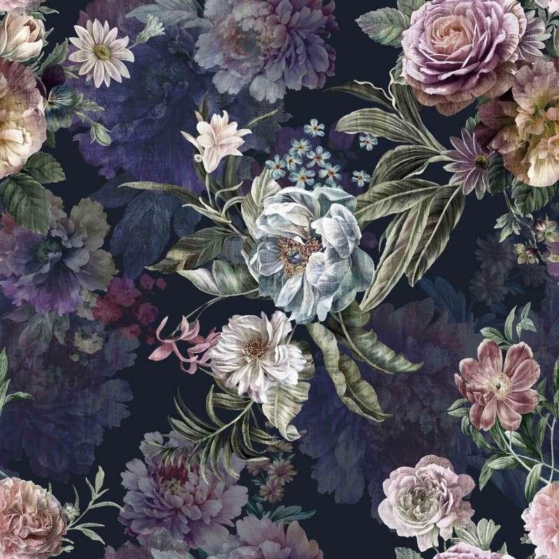 tapeta w kwiaty - tapeta ścienna w kwiaty (12×12)