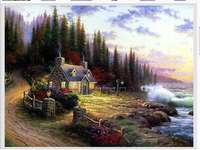 view - mountain cottage, water, nature