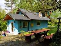 egy ház a Bieszczady-hegységben