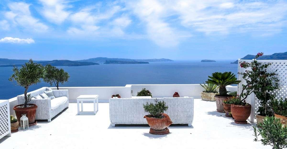 vista mare dalla terrazza della villa puzzle