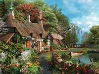dom pod strzechą przy jeziorze - m......................