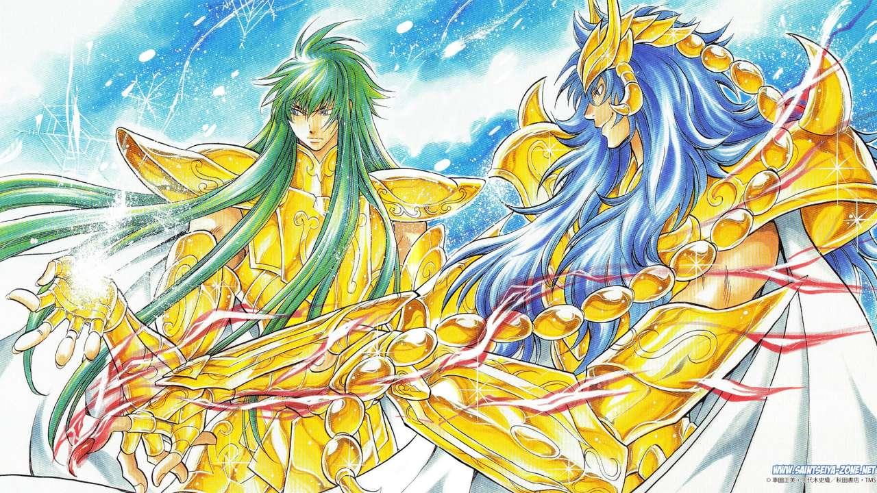 Saint Seiya - Kardia - Degel - Golden Knights Saint Seiya Het verloren doek (14×8)