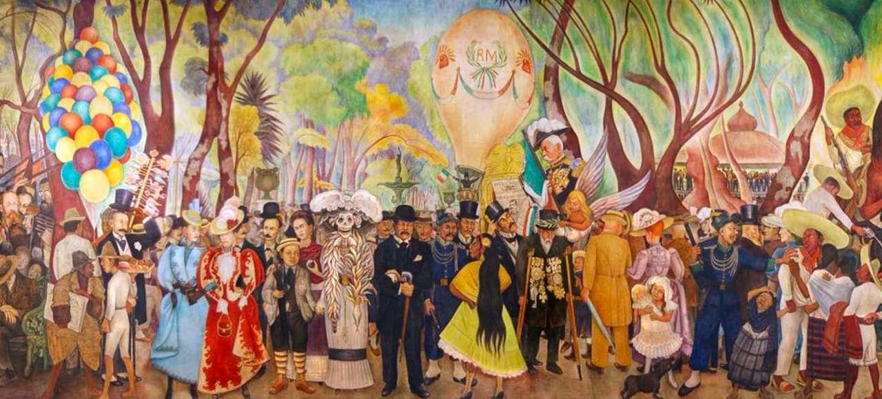 Mexikansk muralism - Mexikansk Muralistmålare (8×4)