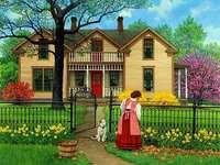 Hus med trädgård