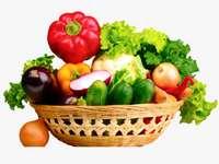 Koš s podzimní zeleninou