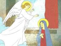 Ευαγγελισμός στη Μαρία - Ο άγγελος Γαβριήλ ανακοινώνει στη Μαρία ότι θα γίνει η