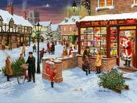 Christmas preparations. - Christmas jigsaw puzzle.