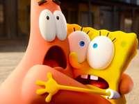 sponge Bob - We can see Bob and Patrick scared