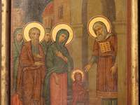 The entrance of the Mother of God into the Church