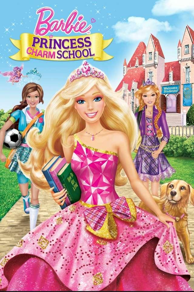 """Barbie: Princess Charm School - """"Barbie spielt Blair Willows, ein gutherziges Mädchen, das ausgewählt wurde, um die Princess Charm School zu besuchen: ein magischer, moderner Ort, an dem Tanzen, Tee-Partys und richtige Manieren de (6×10)"""