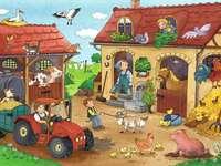 werk op de boerderij - m ....................
