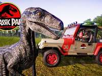 Jurassic park - We can see a dinosaur very close to people but they do not attack it