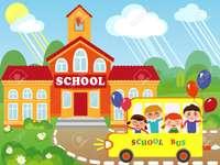ŠKOLA - Uspořádejte školní obrázek.