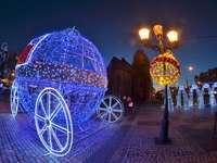 το εορταστικό Gorzów - Χριστουγεννιάτικος φωτισμός στο Gorzów