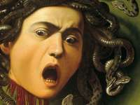 Caravaggio head of Medus - medusa had the power to petrify with the look