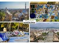 Barcelona koláž památky - Barcelona koláž památky