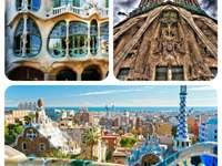 Barcelona collage oriëntatiepunten