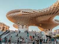 Sevilla i stadens centrum modern arkitektur