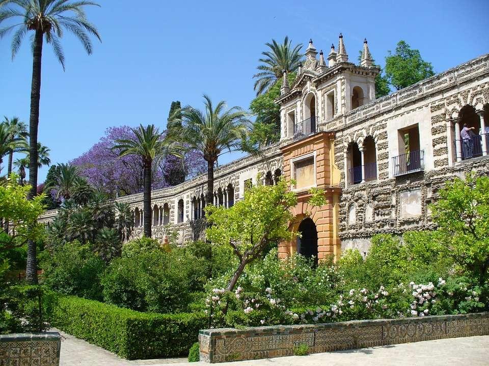 Sevilla Palast Gartenanlage