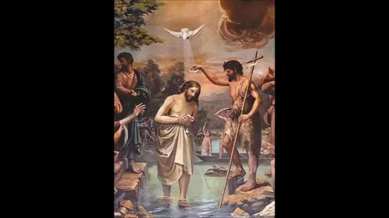 Il battesimo di Gesù - Gesù Battesimo - Giovanni battezza Gesù in Giordania (3×2)