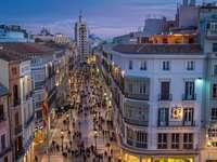 Malaga Spanyolország belvárosában