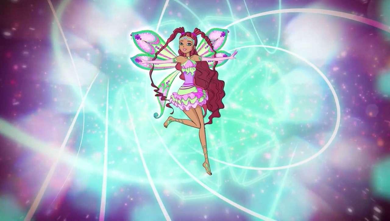 Winx Club: Aishas neu gestalteter Enchantix - Winx Club Puzzle | Aishas neu gestalteter Enchantix (8×5)