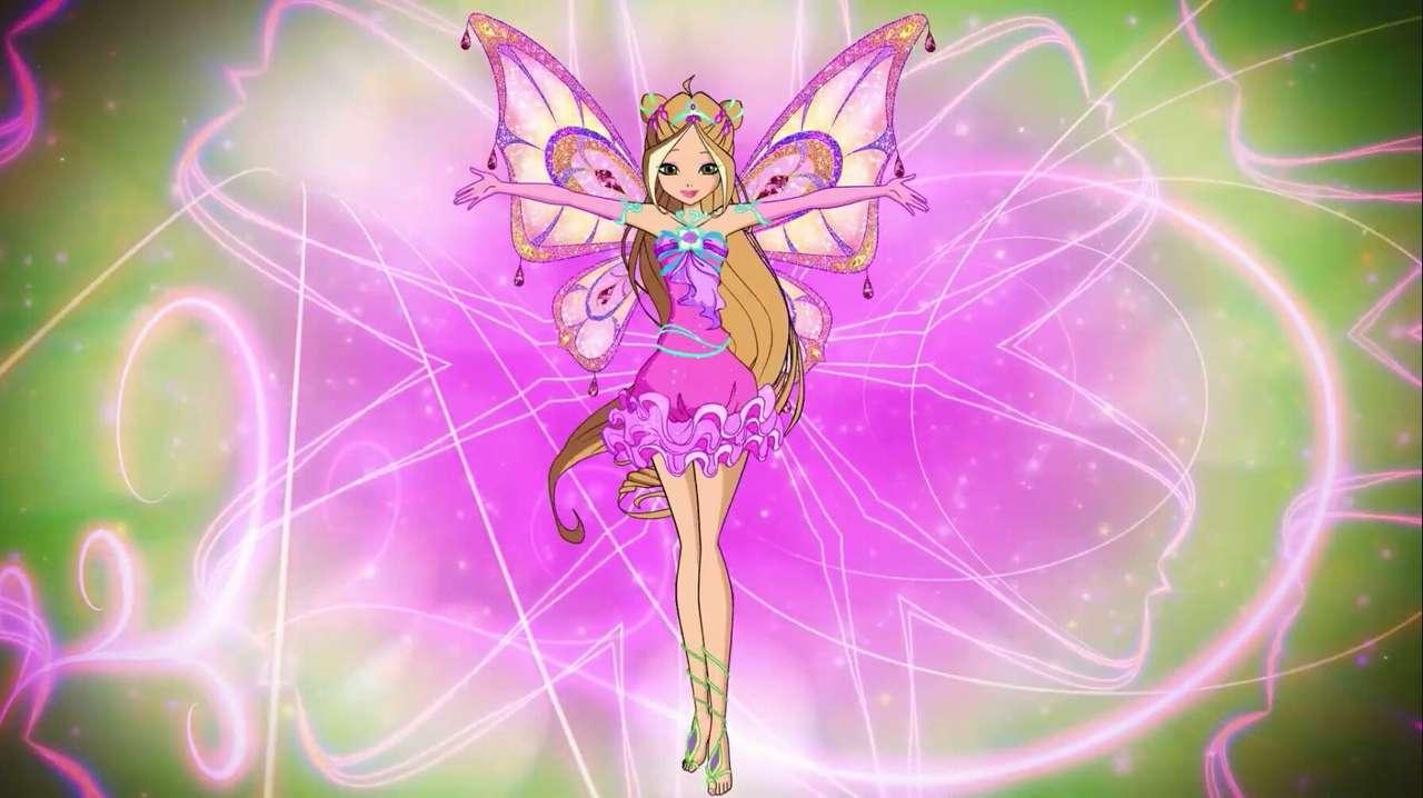 Winx Club: Floras neu gestalteter Enchantix - Winx Club Puzzle | Floras neu gestaltete Enchantix | Flora Fee der Natur (5×3)