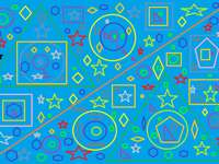 Figurile geometrice - Vopseați cu diverse figuri geometrice
