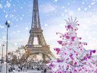 Πύργος του Άιφελ το χειμώνα - εορταστικά τον πύργο του Άιφελ