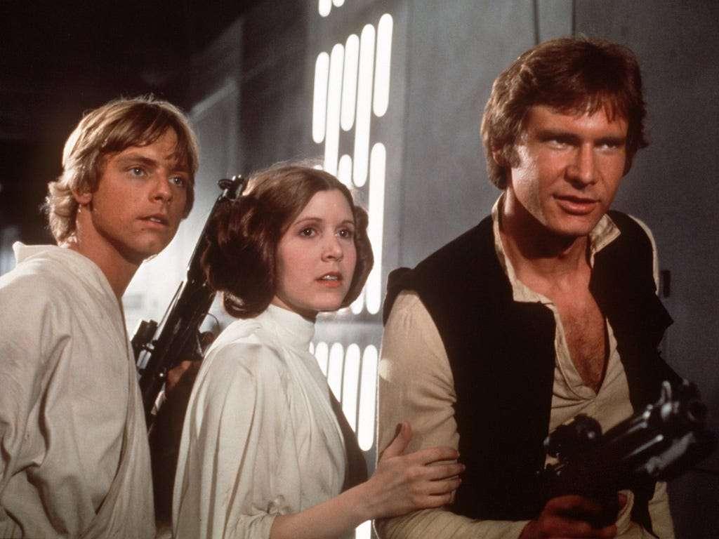 Междузвездни войни - Люк и Лея Скайуокър и Хан Соло (9×7)