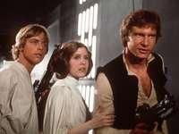 Star Wars - Luke en Leia Skywalker en Han Solo