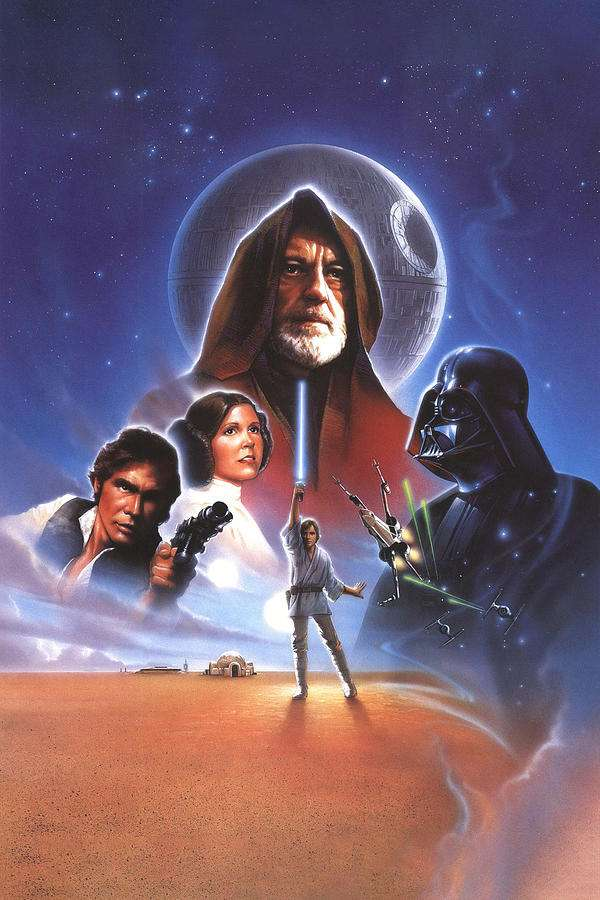 Póster de Star Wars - Póster de Star Wars 1977 (6×9)