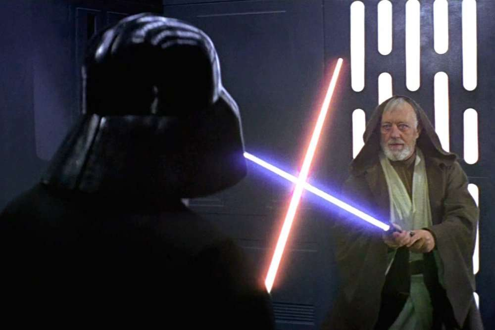 Lucha de Star Wars - Obi Wan Kenobi y Darth Vader pelean (8×6)