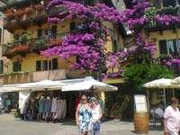 Italia limone logo del Garda - hermosa ciudad turística en el lago de Garda