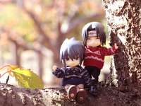 Sasuke and Itachi perched in a tree - Sasuke and Itachi perched in a tree