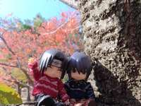 Sasuke and Itachi perched on a tree - Sasuke and Itachi perched on a tree