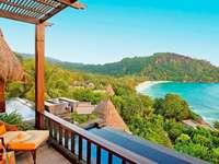 Seychelles- vista desde la terraza - m ...................