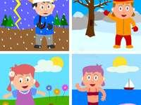 dzieci w 4 sezonach