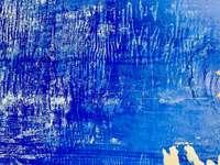 pictură abstractă albastră și albă - textura stâlpului publicitar. Dietzenbach, Germania