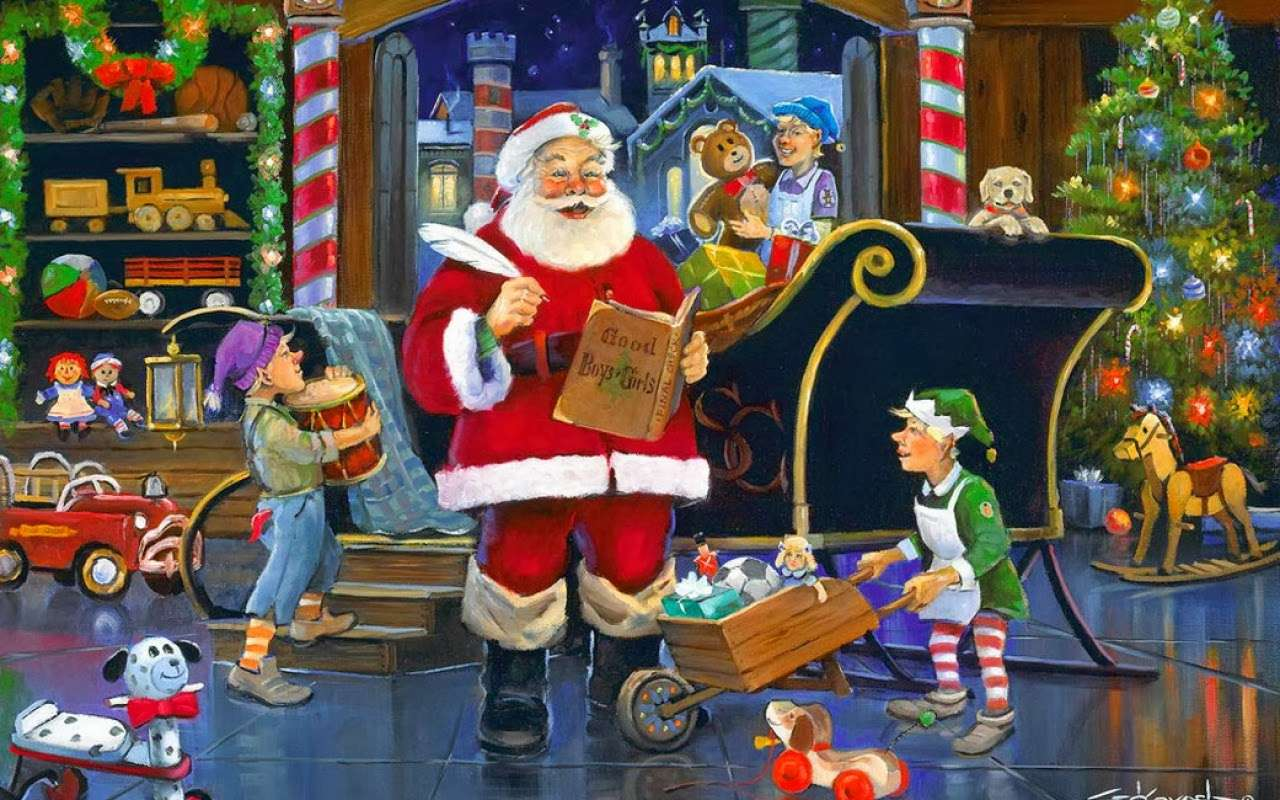WORKSHOP SANTA CLAUS (17×11)