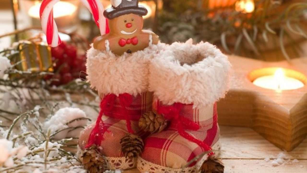 Santas Stiefel Online-Puzzle