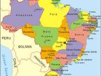 Karta över Brasilien