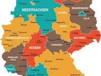 Németország térképe