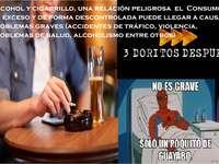 alkohol i papieros
