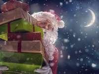 Τα δώρα του Άγιου Βασίλη - Άγιος Βασίλης που μεταφέρει δώρα