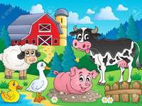 animerad gård.
