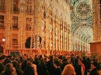 Ljusgarnering i Malaga Spanien