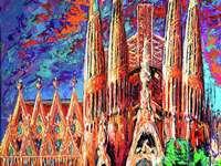 Η ζωγραφική La Sagrada Familia της Βαρκελώνης