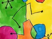 Miro painting - Colors and shapes on the MIRO board