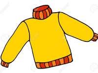 дрехи от жълт пуловер